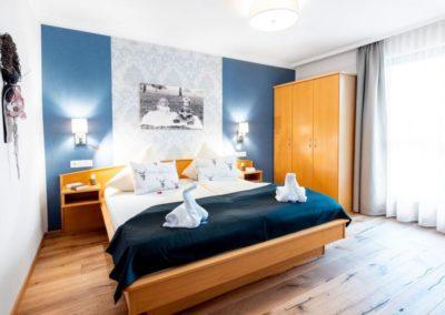 Apartment nahe dem Klopeiner See mit modernen  Eichendielenboden. Schlafzimmer