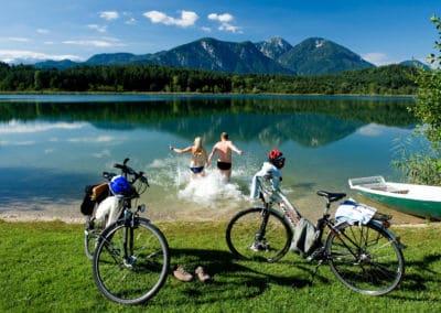 Radfahren-am-Turnersee-Karawanken-abkühlung
