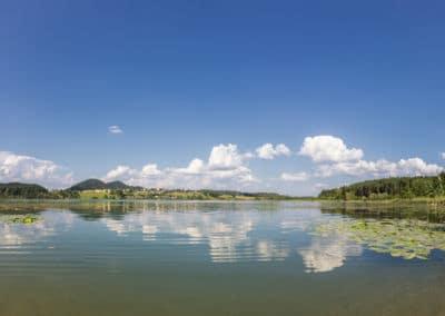 panoramabild-strandbad-turnersee-region-klopeiner-see-südkärnten