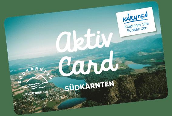 Wir bieten die Aktiv Card Südkärnten mit über 40 Aktivitäten für unsere Gäste